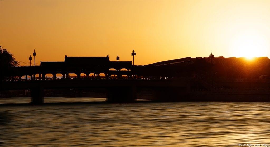 Suzhou sunset bridge