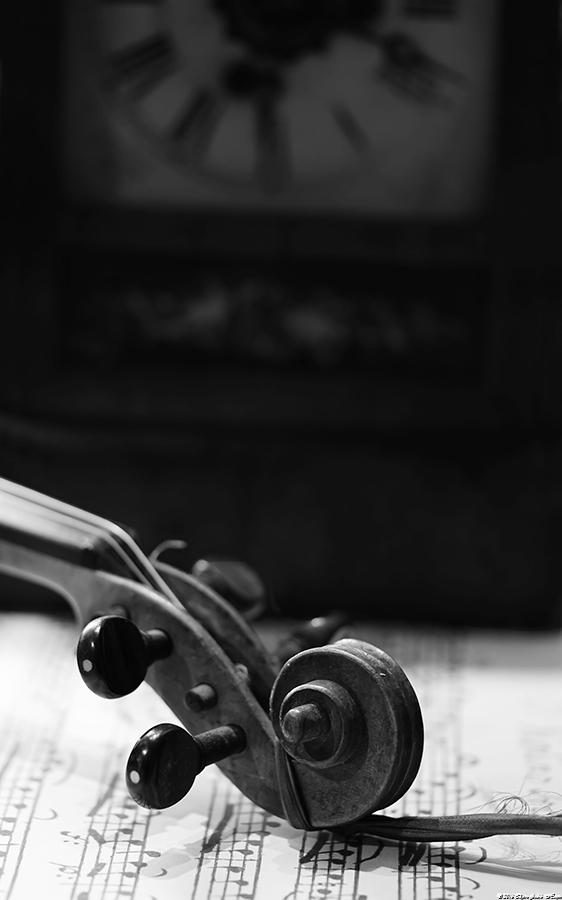 Violin and clock