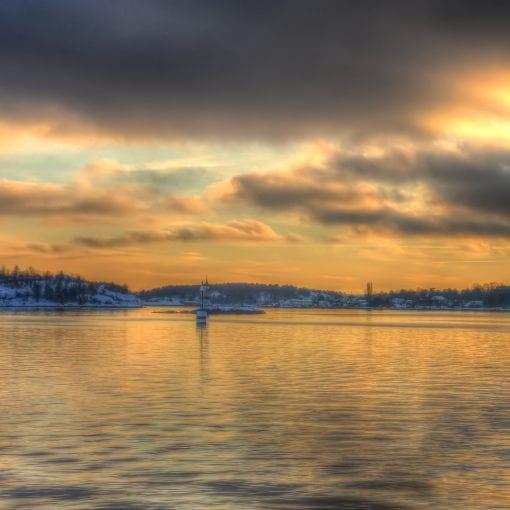 Sunset Nesodden Oslo