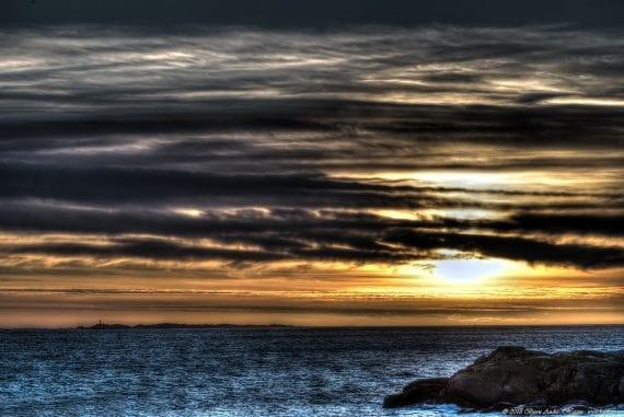 Folehavn sunset