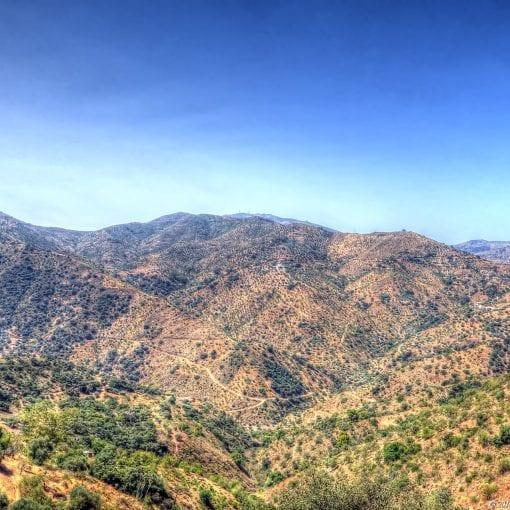 Comares landscape view