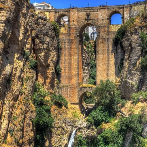 Ronda bridge-waterfall