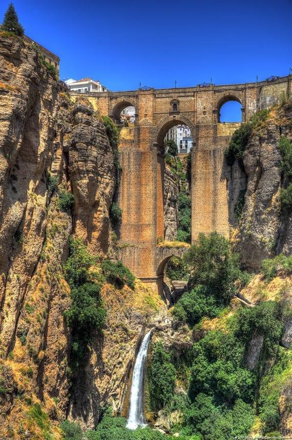 Ronda bridge-waterfall