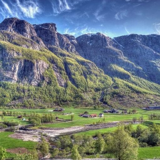 Norway westcoast farmland