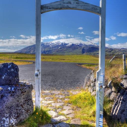 Gate to Snæfellsjökull