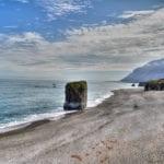 Iceland 2020 coastline monolith 2