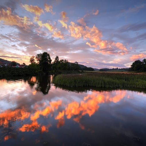 Sunset over Melsomvik