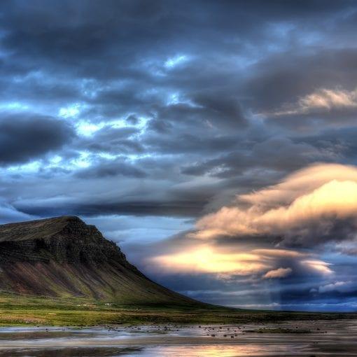 Westfjords himmel