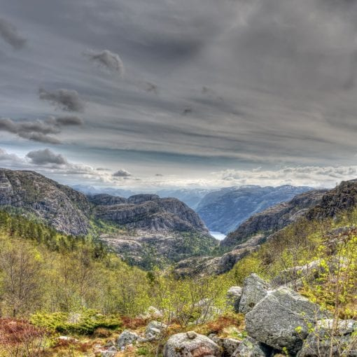 Norway mountains Preikestolen