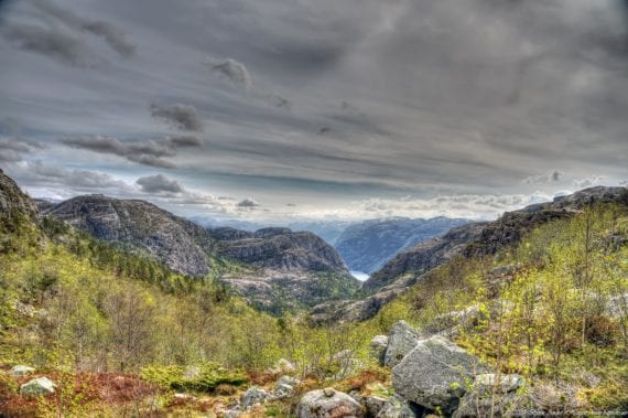 Norway mountains Preikestolen