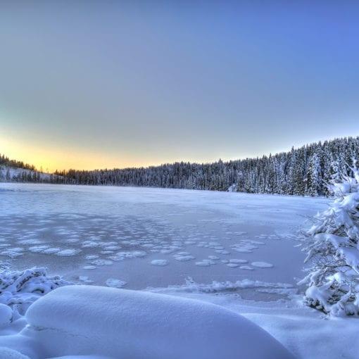 Østervannet Frozen Sunset