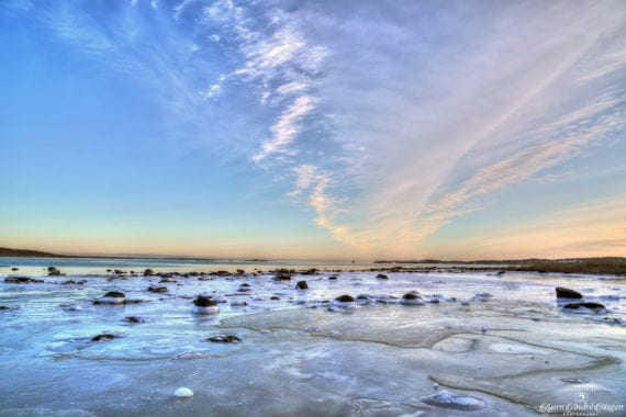 Borre Winter Sunset