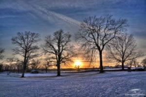 Midgard Viking area sunset